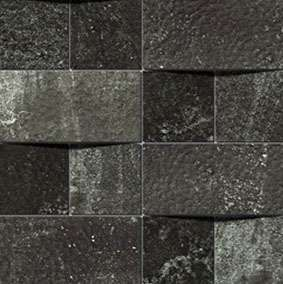 Alchemy 7.0 Black Hammered Mosaico Brick 30x30