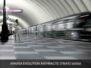 Apavisa Evolution antracite striato 60x60
