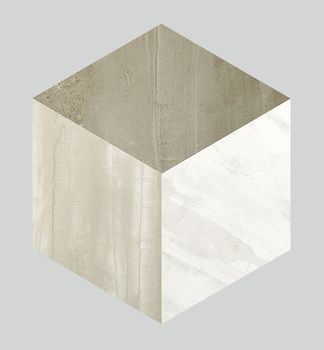 Forma Taupe Patinato Hexagono Decor 45x52