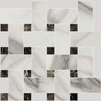 Marble 7.0 Calacatta Pul Mosaico Mix 28.75x29.75