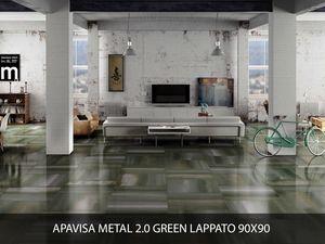 Apavisa Metal 2.0 green lappato 90x90
