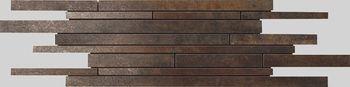 Apavisa Metal titanium lappato mosaico sin fin 15x45