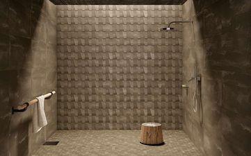 Nanoarea 7.0 Brown Bagnato Mosaico 5x5 30x30