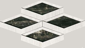 Nanoessence 7.0 Black Lappato Mosaico Brick 18.44x58