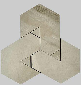 Nanoforma Taupe Mosaico Brick 34x39