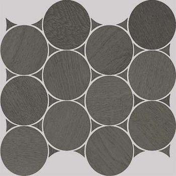 Nanoshiba 7.0 Anthracite Natural Mosaico Circle 30.07x34.84