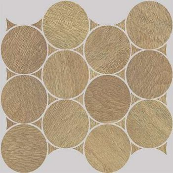 Nanoshiba 7.0 Beige Natural Mosaico Circle 30.07x34.84
