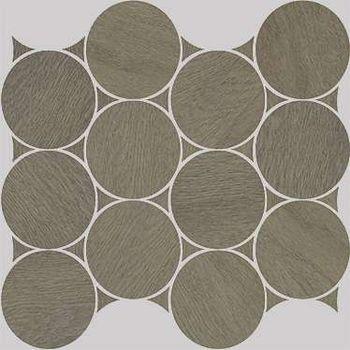 Nanoshiba 7.0 Brown Natural Mosaico Circle 30.07x34.84