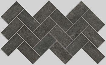 Apavisa Burlington black lappato mosaico 5x10 30x30