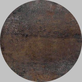 Apavisa Circle moon metal titanium natural 25x25
