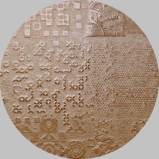 Apavisa Circle moon rendering bronze decor 25x25