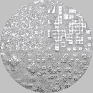 Apavisa Circle moon rendering silver decor 25x25
