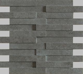 Apavisa Evolution antracita striato mosaico brick 30x28