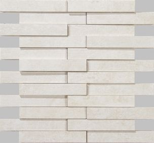 Apavisa Evolution white striato mosaico brick 30x28