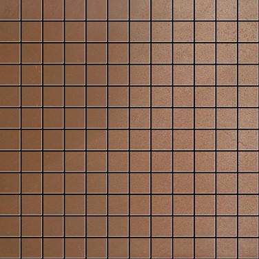 Apavisa Inox copper graffiato mosaico 2.5x2.5 30x30