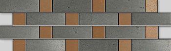 Apavisa Inox copper graffiato mosaico sin fin 10x30