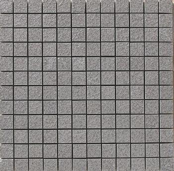 Apavisa Lava antracita bocciardato mosaico 2.5x2.5 30x30