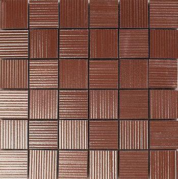 Apavisa Lava copper rigato mosaico 5x5 30x30