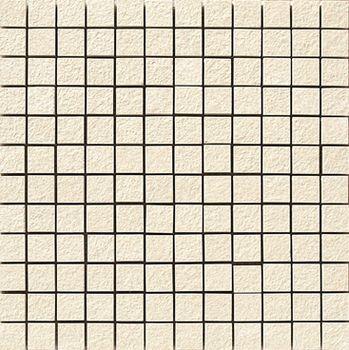 Apavisa Lava marfil bocciardato mosaico 2.5x2.5 30x30