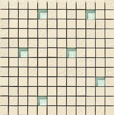 Apavisa Lava marfil multirelieve mosaico 2.5x2.5 30x30