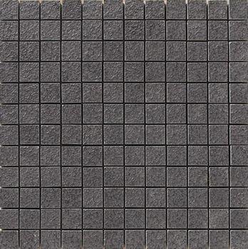 Apavisa Lava negro bocciardato mosaico 2.5x2.5 30x30