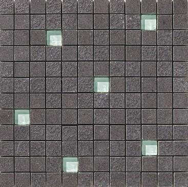 Apavisa Lava negro multirelieve mosaico 2.5x2.5 30x30