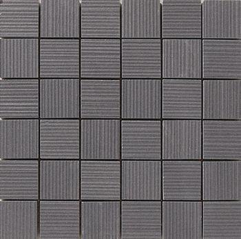 Apavisa Lava negro rigato mosaico 5x5 30x30