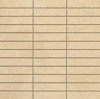 Apavisa Lifestone Globe beige lappato mosaico 2.5x10 30x30