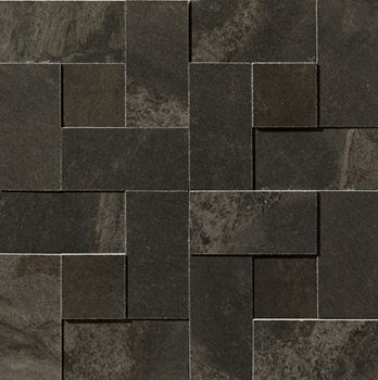 Apavisa Materia Black Natural Mosaico brick 30x30