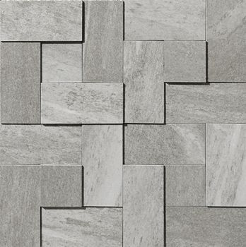 Apavisa Materia Grey Natural Mosaico brick 30x30