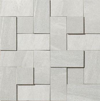 Apavisa Materia White Natural Mosaico brick 30x30