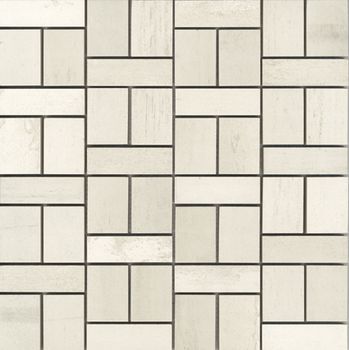 Apavisa Metal 2.0 White Mosaico Mix 30x30