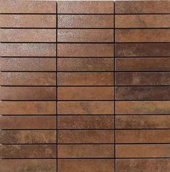 Apavisa Metal copper lappato mosaico 2.5x10 30x30