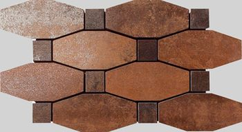 Apavisa Metal copper lappato mosaico blend 14x26