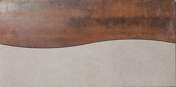 Apavisa Metal copper lappato mosaico onda 30x60