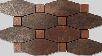 Apavisa Metal titanium lappato mosaico blend 14x26