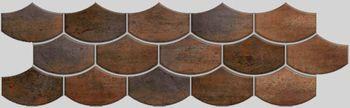 Apavisa Nanocorten copper lappato mosaico flake 15x45