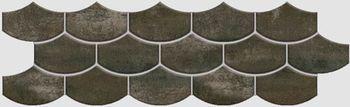 Apavisa Nanocorten titanium lappato mosaico flake 15x45