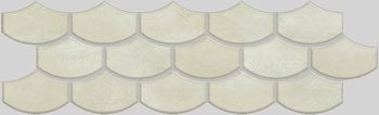 Apavisa Nanocorten white lappato mosaico flake 15x45