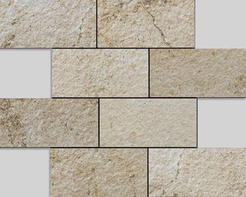Apavisa Neocountry beige bocciardato mosaico 7,5x15 30x30