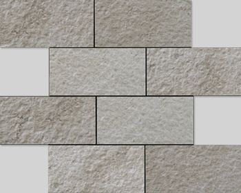 Apavisa Neocountry Grey bocciardato mosaico 7,5x15 30x30