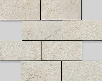 Apavisa Neocountry White bocciardato mosaico 7,5x15 30x30