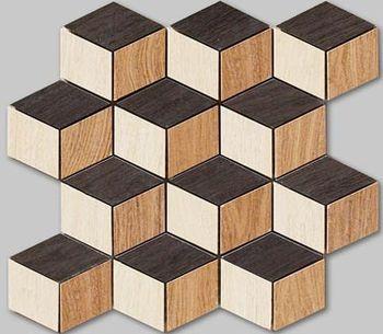 Apavisa Oak poli natural mosaico cubic 25x30