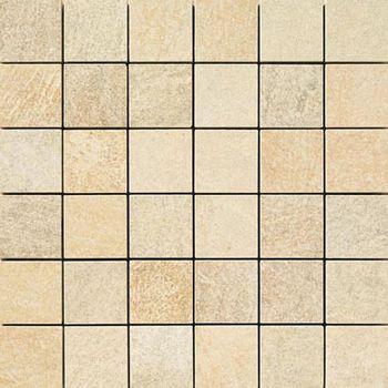 Apavisa Quartzstone Deco beige estructurado mosaico 5x5 30x30