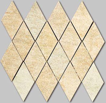 Apavisa Quartzstone Deco beige estructurado mosaico rombo