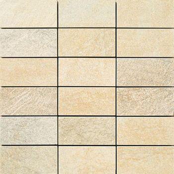 Apavisa Quartzstone Deco beige lappato mosaico 5x10 30x30