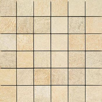 Apavisa Quartzstone Deco beige lappato mosaico 5x5 30x30