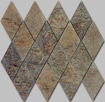 Apavisa Quartzstone Deco grafito estructurado mosaico rombo