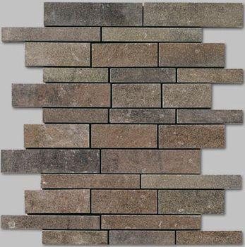 Apavisa Quartzstone Deco grafito estructurado mosaico sin fin 30x30