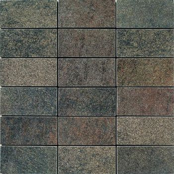 Apavisa Quartzstone Deco grafito lappato mosaico 5x10 30x30
